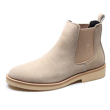 Herre Combat-boots Fuskelær Høst vinter Klassisk / Britisk Støvler Pustende Svart / Brun / Beige / utendørs
