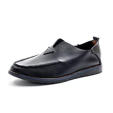 Ανδρικά Παπούτσια άνεσης PU Καλοκαίρι Καθημερινό Μοκασίνια & Ευκολόφορετα Μη ολίσθηση Μαύρο / Καφέ / Μπλε