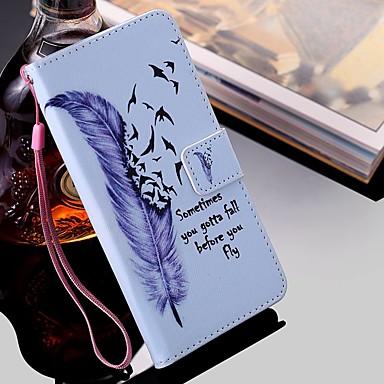 povoljno iPhone maske-etui za jabuke iphone 11 / iphone 11 pro / iphone 11 pro max novčanik / držač za karticu / s postoljem futrole za cijelo tijelo perje pu koža