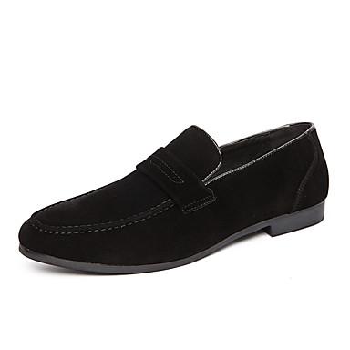 Ανδρικά Suede παπούτσια Σουέτ Ανοιξη καλοκαίρι / Φθινόπωρο & Χειμώνας Κλασσικό / Καθημερινό Μοκασίνια & Ευκολόφορετα Αναπνέει Μαύρο / Καφέ / Κίτρινο / Γραφείο & Καριέρα