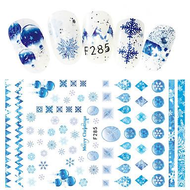 1 pcs Αυτοκόλλητα Άνθινο Θέμα τέχνη νυχιών Μανικιούρ Πεντικιούρ Mini Style / Ασφάλεια / Εργονομικός Σχεδιασμός Στυλάτο / Απλός