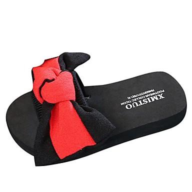 저렴한 Shoes Trends-여아 컴포트 EVA / 쉬폰 슬리퍼 플립 플롭 어린 아이들 (4-7ys) / 빅 키즈 (7 년 +) 리본장식 레드 / 그린 / 블루 여름