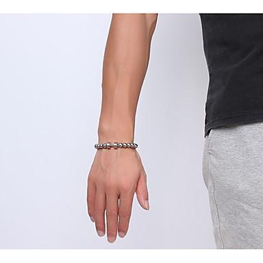 voordelige Dames Sieraden-Heren Dames Armbanden met ketting en sluiting Dikke ketting Kostbaar Dumbbell Statement Eenvoudig Uniek ontwerp modieus Rock Roestvrij staal Armband sieraden Zilver Voor Lahja Dagelijks Carnaval