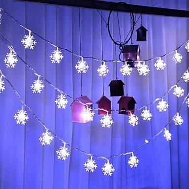 10 ίντσες Φώτα σε Κορδόνι 20 LEDs Άσπρο Διακοσμητικό 220-240 V 1set