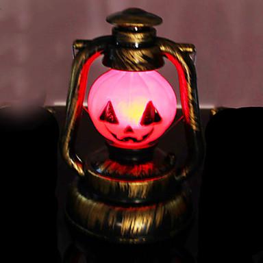 αποκριές προμήθειες κολοκύθας φώτα νυχτερινό φως κηροζίνη φανάρι λαμπτήρα λάμπα φορητή μπαταρία τροφοδοτείται δημιουργική τρομακτικό τρομακτικός 1pc