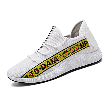 Ανδρικά Φως πέλματα Ελαστικό ύφασμα Ανοιξη καλοκαίρι Αθλητικό Αθλητικά Παπούτσια Ροζ και Άσπρο / Άσπρο / Κίτρινο / Λευκό