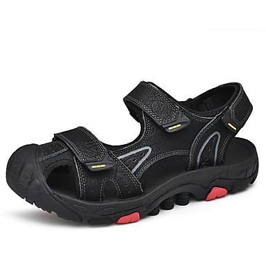 Ανδρικά Παπούτσια άνεσης PU Καλοκαίρι Σανδάλια Παπούτσια Νερού Μαύρο / Ανοικτό Καφέ / Σκούρο καφέ / ΕΞΩΤΕΡΙΚΟΥ ΧΩΡΟΥ