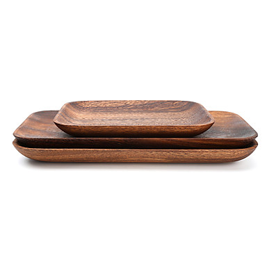 Dongguan ph10708y3302 μαλακό ξύλινο δίσκο φρούτων πιάτο επιδόρπιο ξύλινο δίσκο log 16.5 * 12.5 * 2 ολόκληρο πλάκα από ξύλο