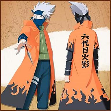 Inspirerad av Naruto Naruto Uzumaki Animé Cosplay-kostymer Japanska cosplay Suits Tryck Kappa Till Herr