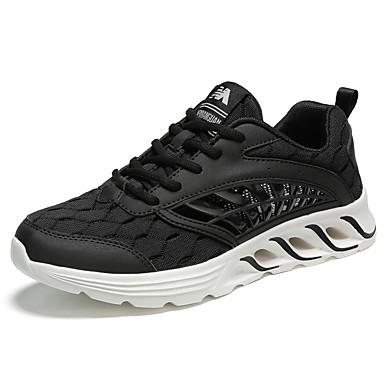 Ανδρικά Παπούτσια άνεσης Δίχτυ / PU Ανοιξη καλοκαίρι Αθλητικό Αθλητικά Παπούτσια Τρέξιμο Μη ολίσθηση Μαύρο / Λευκό / Κόκκινο