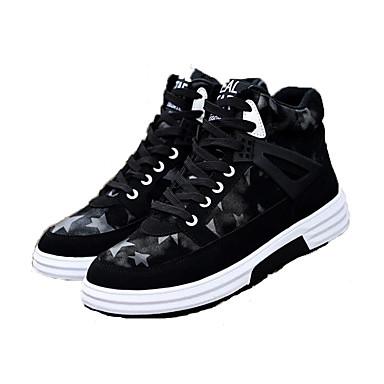 Ανδρικά Fashion Boots PU Φθινόπωρο & Χειμώνας Μπότες Περπάτημα Μποτίνια Μαύρο και Άσπρο / Μαύρο / Κόκκινο / Μαύρο / Μπλε / Γραφείο & Καριέρα