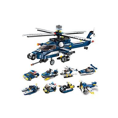 Byggeklosser 1 pcs kompatibel Legoing Håndlavet Politibil Helikopter Alle Leketøy Gave