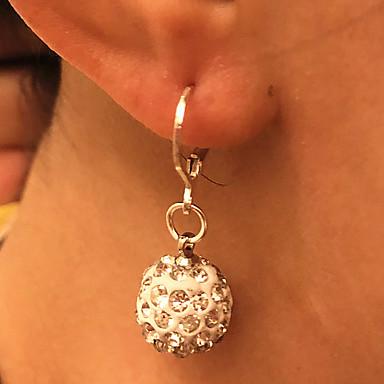 povoljno Modne naušnice-Žene Viseće naušnice Naušnice na polugama Disco Ball Lopta jeftino dame Elegantno Vjenčan Umjetno drago kamenje Naušnice Jewelry Pink Za Vjenčanje Dnevno Kauzalni Maškare Zaručnička zabava Prom