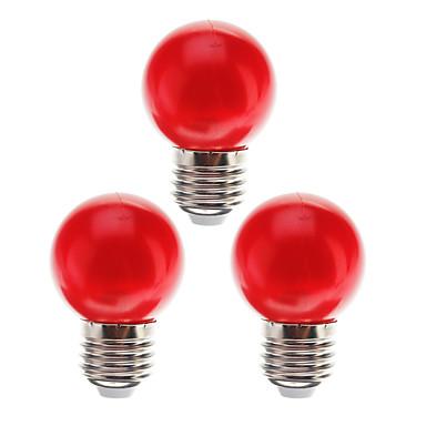 3pcs 0.5 W LED-globepærer 15 lm E26 / E27 G45 7 LED perler Dyp Led Dekorativ Rød 180-240 V