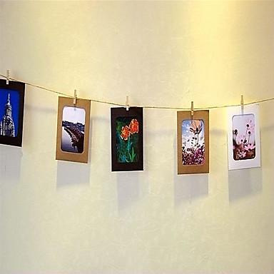 Yiwu pho_06i15 / 6/7 inch 10stk tricolor diy kraftpapir hengende papir fotoramme tremerk hjemmepynt 5 tommer