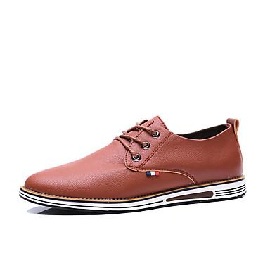 Ανδρικά Παπούτσια άνεσης PU Καλοκαίρι Καθημερινό Oxfords Μη ολίσθηση Μαύρο / Καφέ