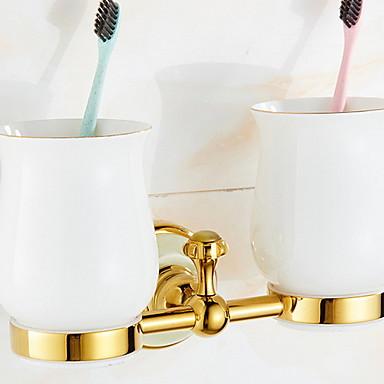 Tannbørsteholder Kreativ Moderne Messing 1pc Vægmonteret