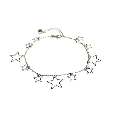 Dame Kroppsmykker 27 cm fotlenke Hvit Bohem Sorte perle / Legering Kostyme smykker Til Gave / Gate / Ferie Sommer