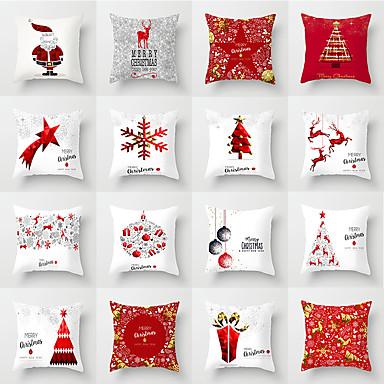 preiswerte Kissen Trends-1 Stück Polyester Kissenbezug, Weihnachten Weihnachten Dekokissen