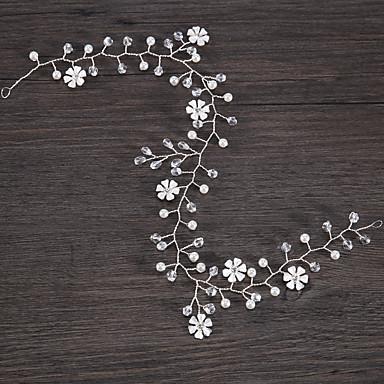 Κράμα με Κρυσταλλάκια / Λουλούδι 1 Τεμάχιο Γάμου / Γενέθλια Headpiece