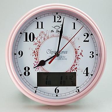 relógio de mesa de relógio moderna rodada de plástico contemporânea