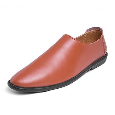 Ανδρικά Παπούτσια άνεσης PU Καλοκαίρι Καθημερινό Μοκασίνια & Ευκολόφορετα Μη ολίσθηση Μαύρο / Καφέ / Λευκό