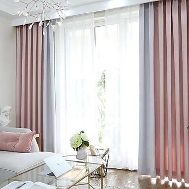 Modern Privacidade Dois Painéis Cortina Quarto   Curtains