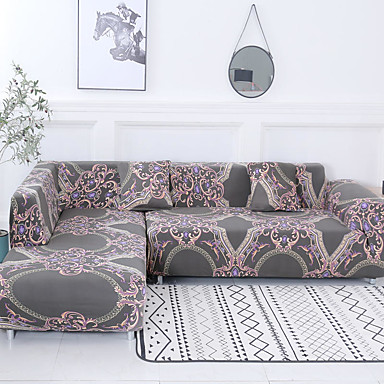 [$28.79] Sofa Cover Damask / Classic / Contemporary Reactive Print  Polyester Slipcovers