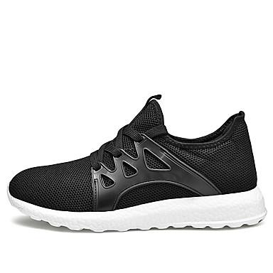 Ανδρικά Παπούτσια άνεσης Δίχτυ Άνοιξη / Φθινόπωρο Αθλητικά Παπούτσια Μαύρο / Μαύρο και Άσπρο / Κόκκινο