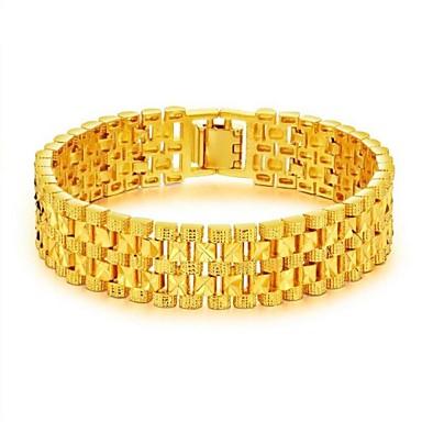 levne Pánské šperky-Pánské Řetězové & Ploché Náramky Stylové kreativita Módní Dubaj 18K zlato Náramek šperky Zlatá Pro Párty Denní