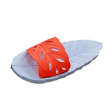 Homens Sapatos Confortáveis PVC Verão Casual Chinelos e flip-flops Respirável Verde Escuro / Laranja / Azul Real