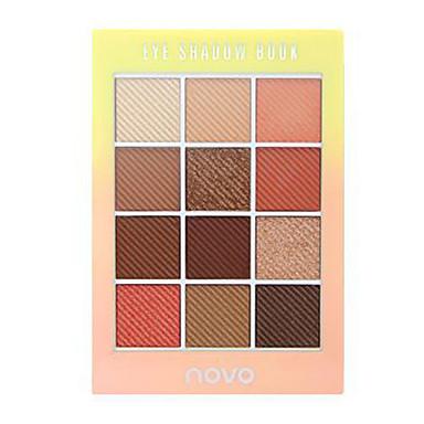 12 cores Sombra Mate Sombra de olho Pró Fácil Uso Profissional Maquiagem para o Dia A Dia Cosmético Dom