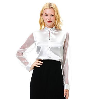 Skjorte Dame - Ensfarget Arbeid Rød