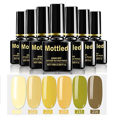 6 stk. Farge 211-216 marmorøse UV / led gel neglelakk fargelakssett sett i farger