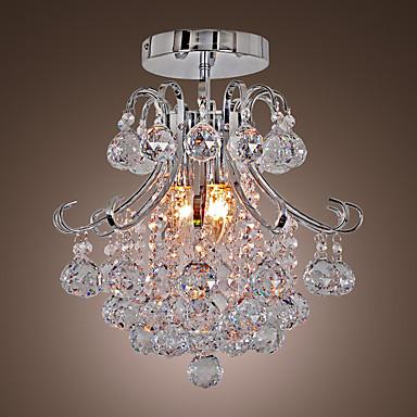 QINGMING® 3-luz Geométrico / Mini Lustres Luz Descendente Galvanizar Metal Estilo Mini 110-120V / 220-240V