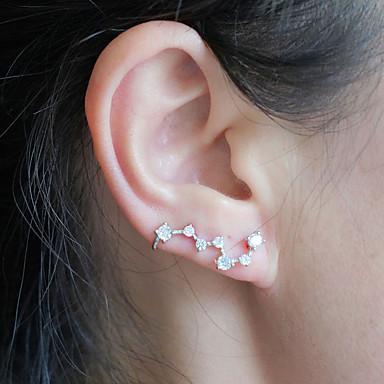 Γυναικεία Cubic Zirconia Κουμπωτά Σκουλαρίκια Σκουλαρίκι Κλασσικό Ρετρό Πολύτιμος Κορεάτικα Γλυκός Μοντέρνα Ασημί Σκουλαρίκια Κοσμήματα Ασημί Για Πάρτι Καθημερινά Δρόμος Δουλειά 1 Pair