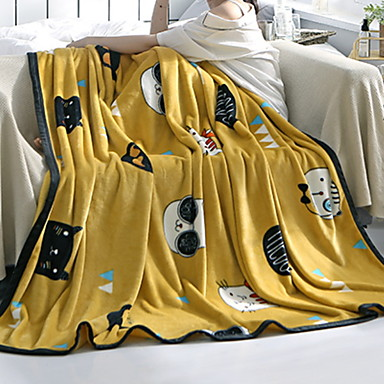 Πολύ λειτουργικές κουβέρτες, Κινούμενα σχέδια Φανέλα Φλις Μαλακό κουβέρτες