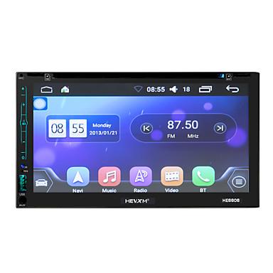 billige Bil Elektronikk-litbest he6606 6,95 tommers 2 din android in-dash bil dvd-spiller / bil gps navigator berøringsskjerm / gps / innebygd Bluetooth for universell Bluetooth-støtte mov / rm og så videre