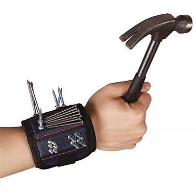 Magnetisk armbånd Bærbar Lett å bære Foldbar Kurv Nylon Oxford Arbeide Svart 1 pcs