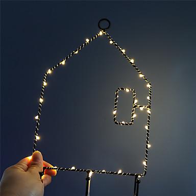 1pc Φώς Νυκτός / Διακοσμητικός φωτισμός Θερμό Λευκό Μπαταρίες AA Powered Lovely / Φωτιστικό ατμόσφαιρας / Ρομαντικό δώρο <5 V
