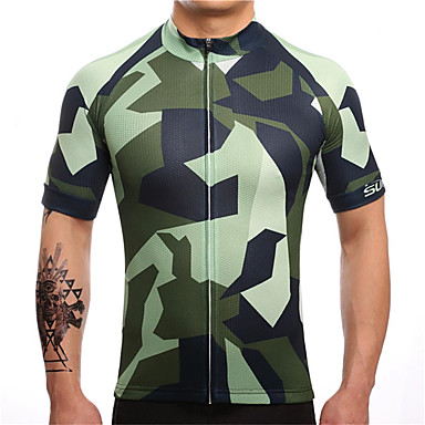 21Grams καμουφλάζ Ανδρικά Κοντομάνικο Φανέλα ποδηλασίας - Παραλλαγή Ποδήλατο Αθλητική μπλούζα Μπολύζες Αναπνέει Ύγρανση Γρήγορο Στέγνωμα Αθλητισμός Τερυλίνη Ποδηλασία Βουνού Ποδηλασία Δρόμου Ρούχα