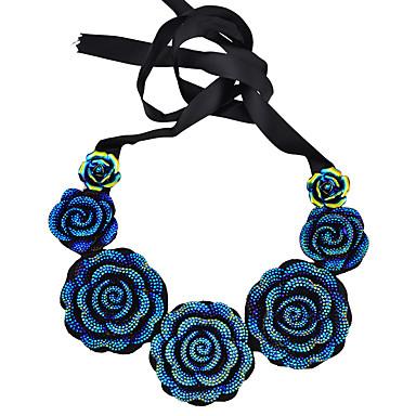 Dame Blå Halskjede geometriske Blomst trendy Plast Mørkeblå - Halskjeder Smykker 1pc Til Ferie