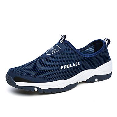 Ανδρικά Παπούτσια άνεσης Δίχτυ Ανοιξη καλοκαίρι Καθημερινό Μοκασίνια & Ευκολόφορετα Αναπνέει Σκούρο μπλε / Γκρίζο / Χακί