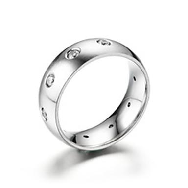 levne Dámské šperky-Pánské Band Ring Prsten Tail Ring 1ks Stříbrná Titanová ocel Kulatý Základní Módní Dar Denní Šperky Cool