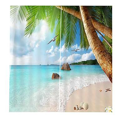 παραλιακή παραλία φρέσκα σκηνικά κουρτίνες σχεδιασμού πάχυνση πλήρης σκίαση κρεβατοκάμαρα αδιάβροχο υγρασία-απόδειξη κουρτίνες ντους