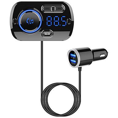 billige Bil Elektronikk-fm sender bluetooth 5.0 bil håndfri kit mp3 musikkspiller spiller støtte tf kort / u diskavspilling dual usb hurtigladning bc49b
