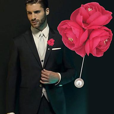 Bouquets de Noiva Alfinetes de Lapela Casamento / Festa de Casamento Gorgorão / Miçangas 0-10 cm