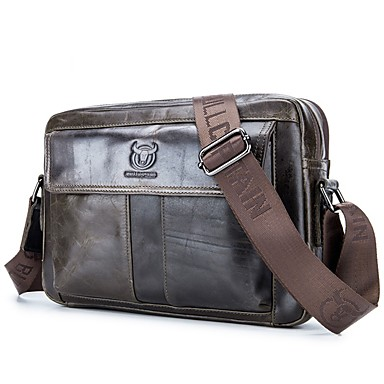 cheap BULLCAPTAIN®-(BULLCAPTAIN) 2019 New One-Shoulder Slung Sports Casual Leather Crossover ipad Men's Bag