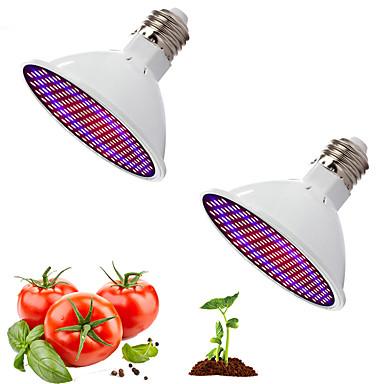 2 stk rød og blå lys samarbeidslampe fullt spektrum førte plantevekst belysning fyll lys grønnsak blomsterkrukke potte cannabis innendørs avl 20w ac85-265v