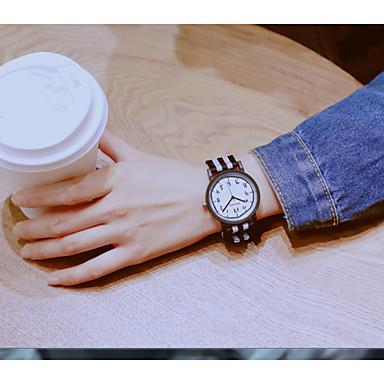 levne Pánské-Dámské hodinky zábalu Křemenný Kůže Hodinky na běžné nošení Půvab Analogové Klasické Minimalistické - Černá Černá / Bílá Bílá / modrá